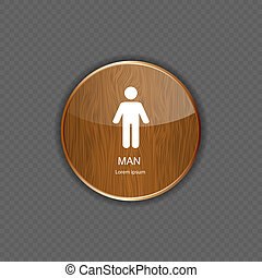 Man application icons vector illustration