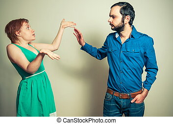 man arguing with the woman