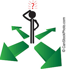 man asking where - the green way to success