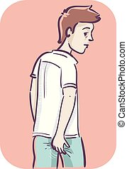 Man Ass Itchy Illustration - Illustration of a Man...