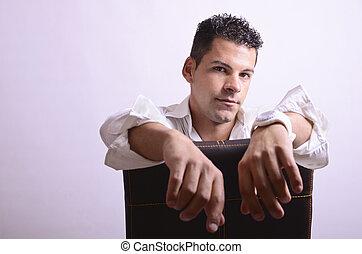 Man at chair
