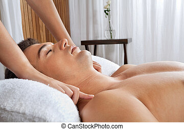 Man At Health Spa