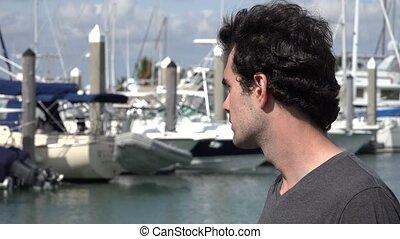 Man at Marina