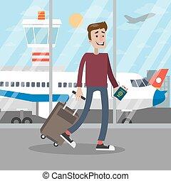 Man at the airport.