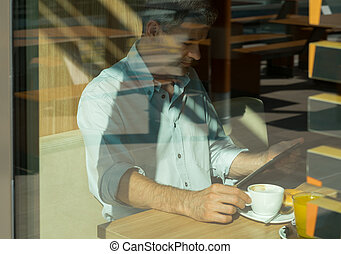 Man at the cafe