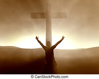 Man at the Cross of Jesus Christ
