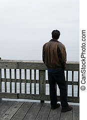 Man at the End of the Pier