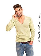 Man at the phone