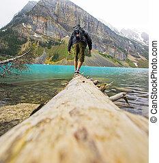 Man at the Shores of Lake Louise