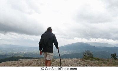 man at the top - climbing paradise, Pietra di Bismantova...