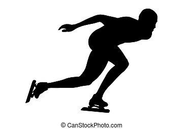 man athlete speed skater