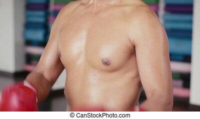 Man, athlete, sport, gym, boxing