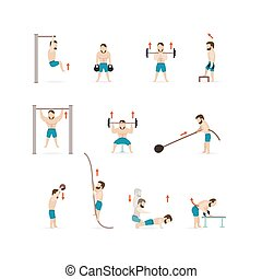 Man Athletic Gym Gymnasium Training Fitness Workout Symbol