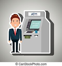 man atm money credit