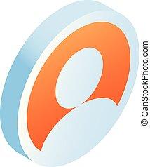 Man avatar icon, isometric style