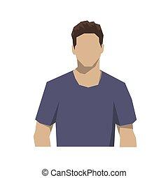 Man avatar, isolated flat design vector illustration