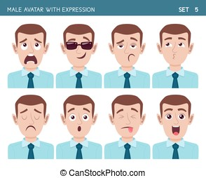 Man avatar with expressions