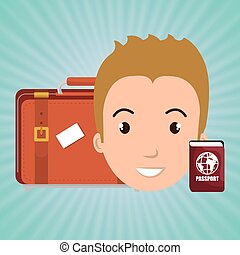 man bag passport travel