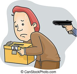 Man Ballot Box Gunpoint
