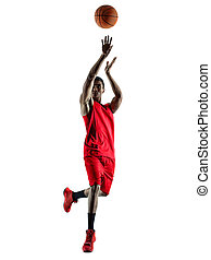 man basketball player isolated silhouette