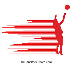 Man basketball player vector background concept made of...