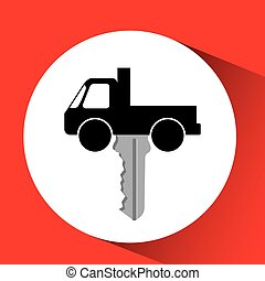 man bearded character truck vehicle transport vector...