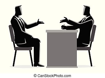 Man being interviewed by recruiter