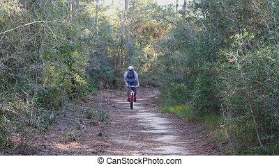 Man Biking Trail