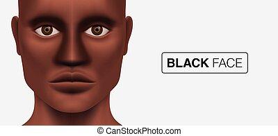 man, black , het kijken, model, camera.