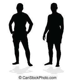 man black silhouette
