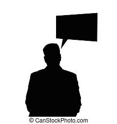 man black vector silhouette illustration