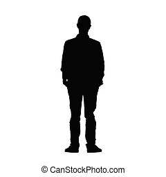 man black vector silhouette