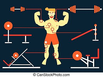 Man Body Building with his big muscle
