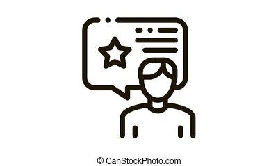 Man Bonus Consultant Icon Animation. black Man Bonus Consultant animated icon on white background
