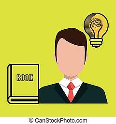 man book idea icon