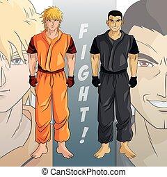 man boy anime comic design