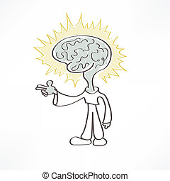 man brain icon