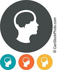 Man brain vector icon