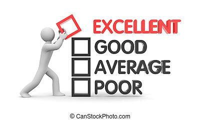 Man builds rating. Evolution metaphor