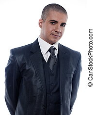 Man Businessman Portrait Cheerful smile