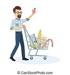 Man buying grocery.