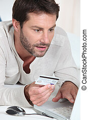 Man buying online