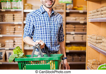 Man buying some groceries at a store