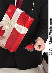 Man buys Christmas present