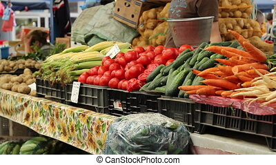 Man Buys Fresh Vegetables
