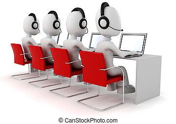 man, calldesk, 3d