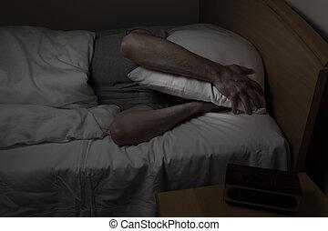 Man cannot sleep at night time