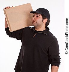 Man carrying a parcel