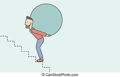 Man carrying ball.