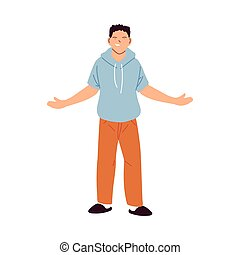 man cartoon with pullover vector design